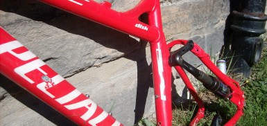 A specialized epic mountain bike in red