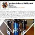 Just a quick post to point you at a little article I read over on NSMBe magazine about a cheap and easy way to customise your bike cables, both gears...