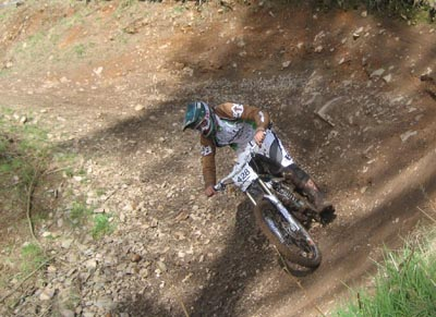 The enormous berms at Ae Downhill - NPS downhill 2008