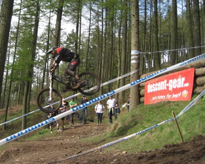The Step-Down at Ae Forest - NPS downhill 2008 round 1