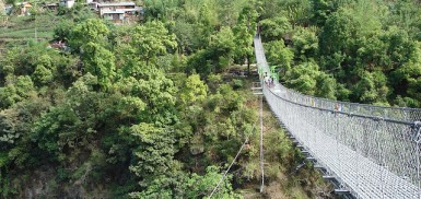 bungee jump at the last resort, Nepal