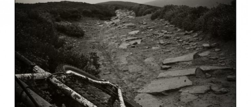 mountain bike on muddy trail