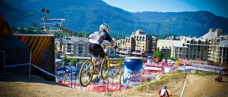 A view from half way up the whistler bike park