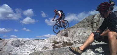 McMoab at Kirroughtree, Scotland's mountain biking hardrock.