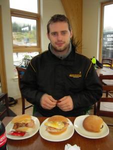 Robert Daglish eating breakfast at Relentless 24 2011