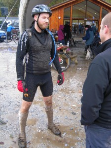 The culmination of our Relentless 24 experience. Bruce shows off the mud.