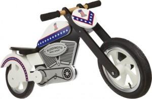 A balance bike that looks like a motorcycle