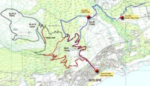 a map of the golspie mountain biking trails