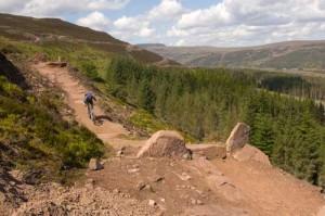 a rider mountain biking in golspie