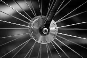 spokes on wheel