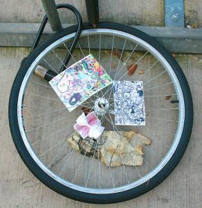 a bike wheel